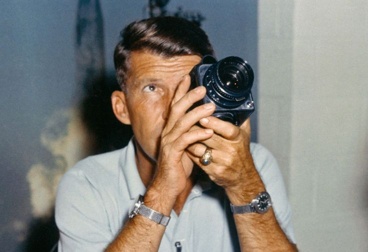 Wally Schirra wearing a Speedmaster and an Accutron L ...