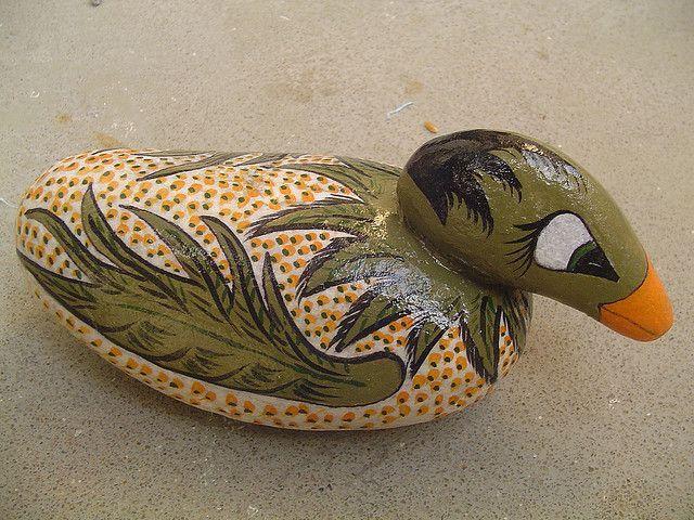 58 Best Duck Rocks Images On Pinterest Rock Painting