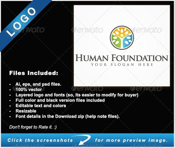Human Foundation - Humans Logo Templates