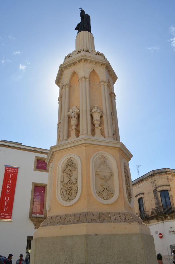 Restauro della colonna di San Giovanni, Casarano, 2015 - Studio Ozza