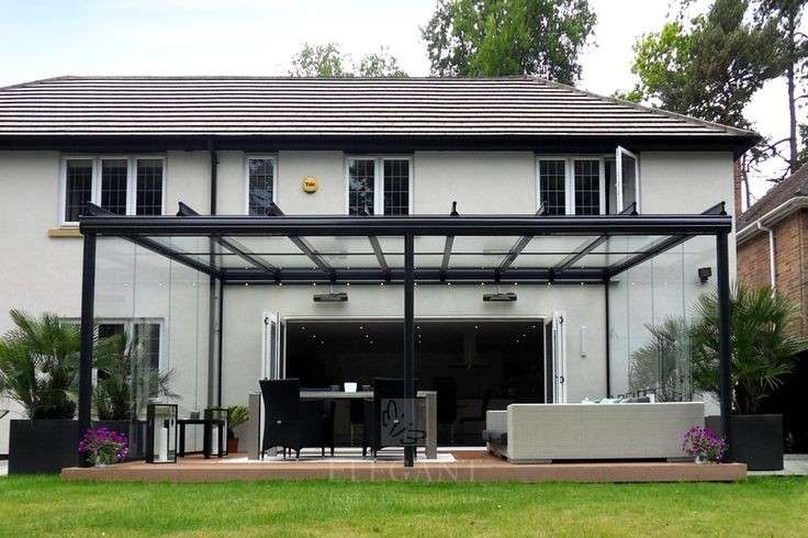 Glass Veranda in Hampshire With Fixed Glass Sides | Elegant