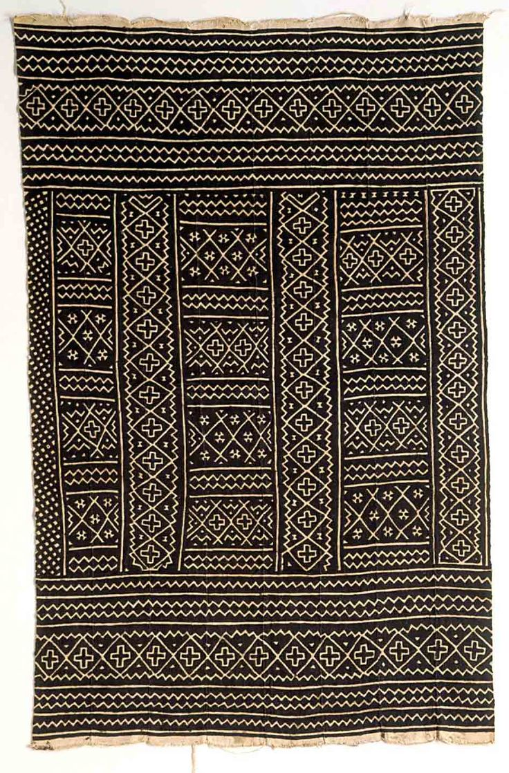 "Africa | Woman's mudcloth wrapper ~ ""Bogolanfini"" ~ from the Bamana people 