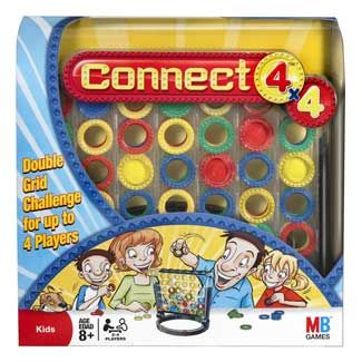 Connect 4x4. Another quick-to-set-up-and-clean-up game for the therapy session. AND it can be for up to 4 players. BOOYA.