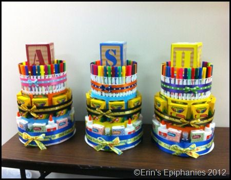 School Supply Cake - with supply list  teacher survival kit teacher appreciation first day of school