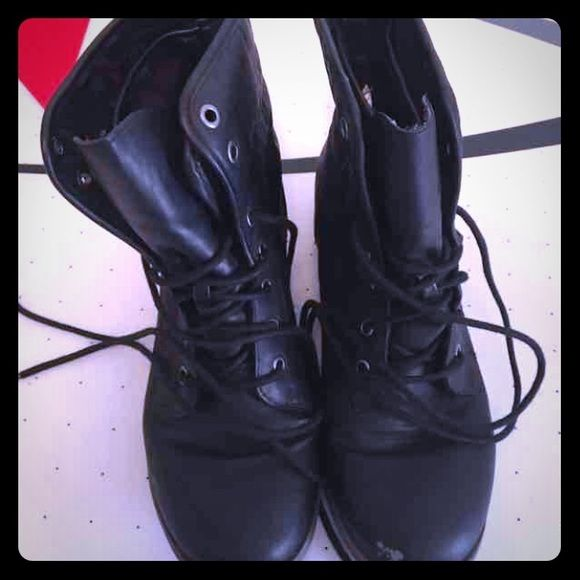 Black combat boots Super cute and comfy boots! Hardly worn so