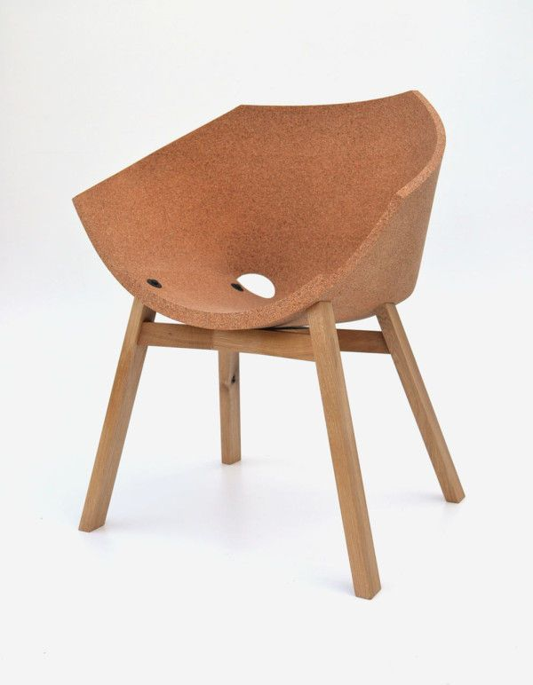 cork material  - Designer Carlos Ortega created the Corkigami Chair, which combines cork material with a simple (yet modern) chair design. This comfortable chair ha...