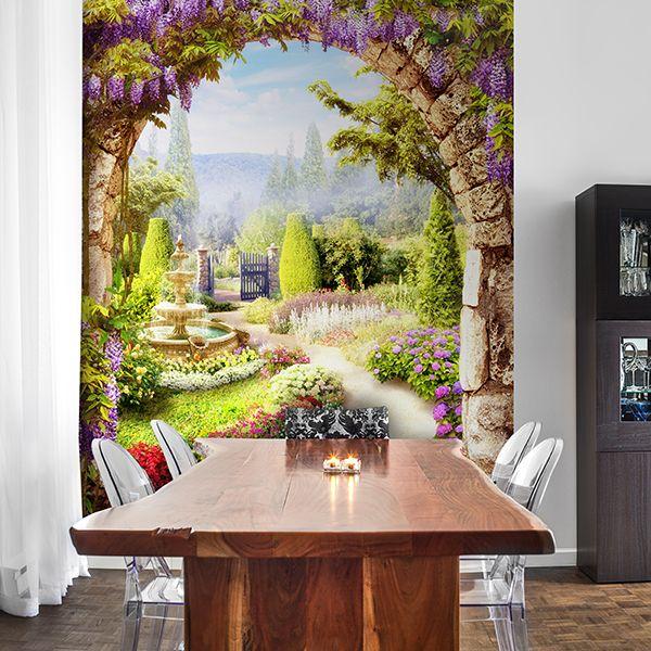 Fotomurali: Giardino fiori #fotomurale #murale #parede #muro #decorazione #deco #StickersMurali