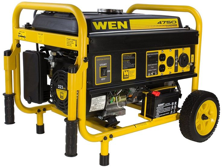 WEN 4750-W Portable Gas Generator with Electric Start Home RV Camping Tailgating