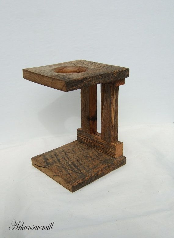 Single Rustic Reclaimed Coffee Pour Over Wooden by Arkansawmill