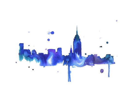 Watercolor Travel Illustration - New York Loves You print from JessicaIllustration on Etsy