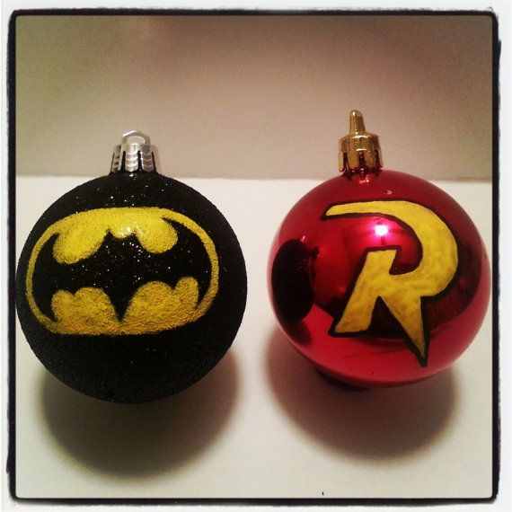 Hey, I found this really awesome Etsy listing at https://www.etsy.com/listing/169481856/batman-and-robin-christmas-ornaments