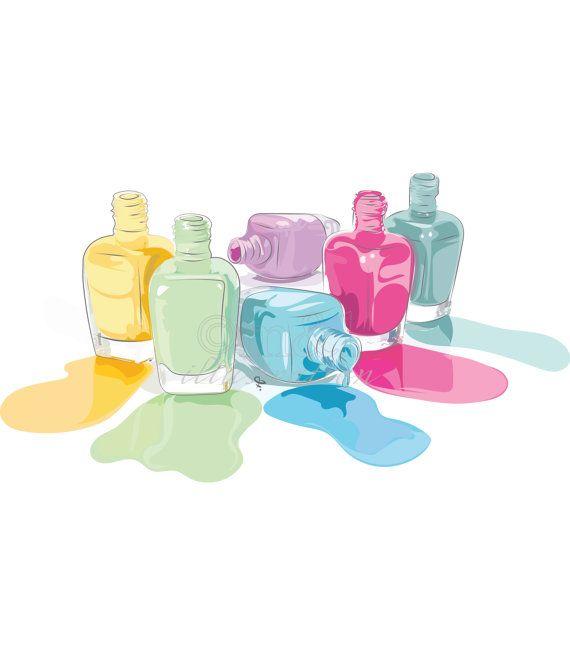 "Colorful Nail Polish Original Illustration by MarkandLimnArt - More illustrations LINE BOTWIN ""girly illustrations"""