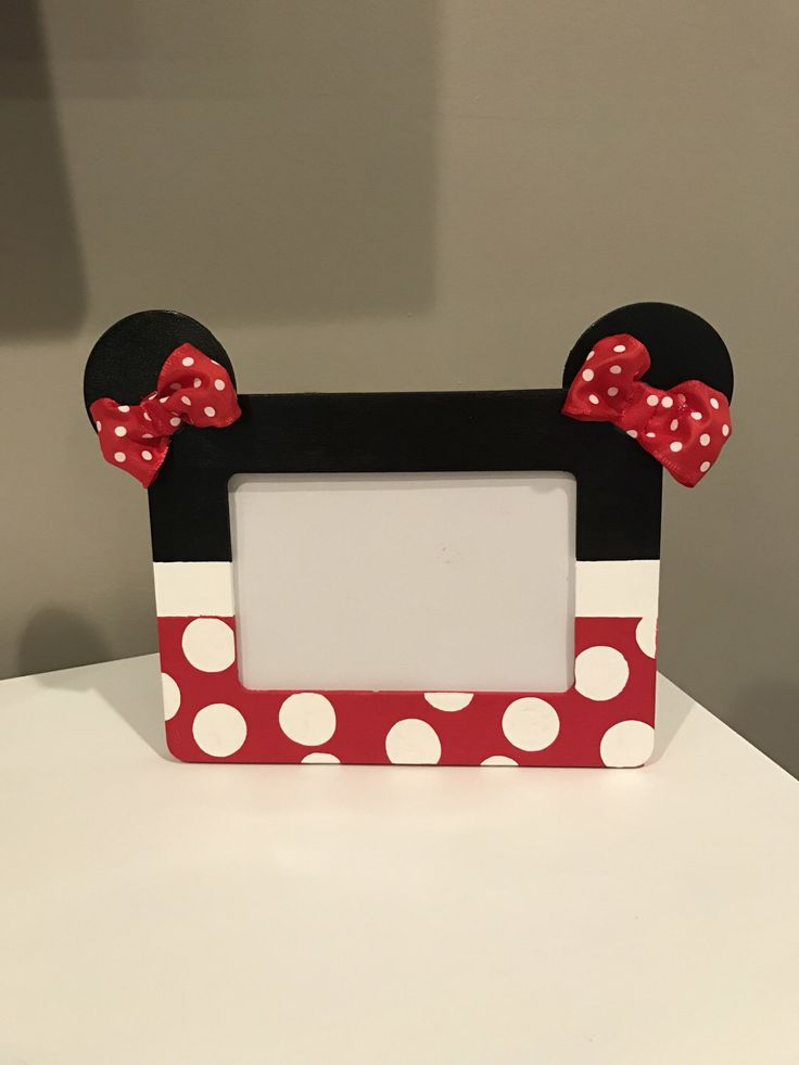 A personal favorite from my Etsy shop https://www.etsy.com/listing/499317336/minnie-mouse-picture-frame