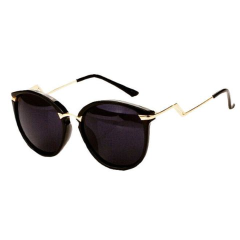Bored of wearing the normal and monotonous sunnies? Here is something that you will absolutely love! Turn up your style quotient as your wear these stylish pair. Twisted Golden rims & 100 % UV Protection.  Full protection against ultraviolet light Lenses block 99% or 100% of UVB and UVA rays Lenses meet ANSI  blocking requirements.  UV 400 protection. (These block light rays with wavelengths up to 400 nanometers, which means that your eyes are shielded from even the tiniest U