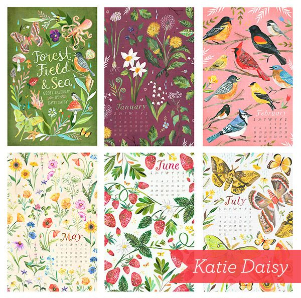 These limited edition 2017 wall calendars by Katie Daisy look incredible. What do you think? http://prettypaperthings.com/?p=6082