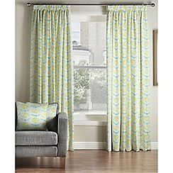 Montgomery - Lindon Green 'Amelie' Lined Pencil Pleat Curtains