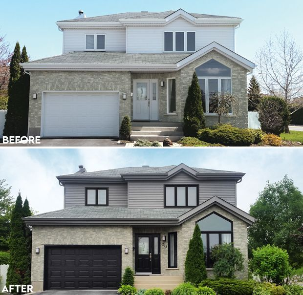 Painting Window Frames And Doors Black Can Give A Modern Look To Tired Facades In 2020 House Paint Exterior Window Trim Exterior House Exterior