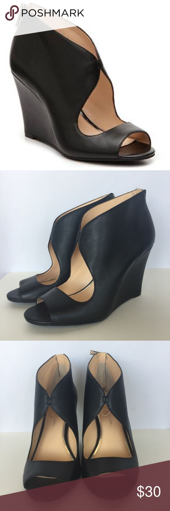 """Jessica Simpson Monika Wedge Pump Gently used condition Jessica Simpson Monika Wedge Pump with very minimal signs of wear. Approximate wedge height 4"""". Jessica Simpson Shoes Wedges"""