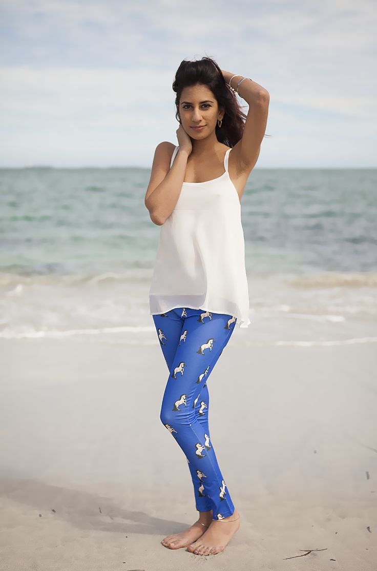 Unicorn Print Pants - AU$30   Shop: http://www.leftlanevintage.com/products/details/unicorn-print-pants