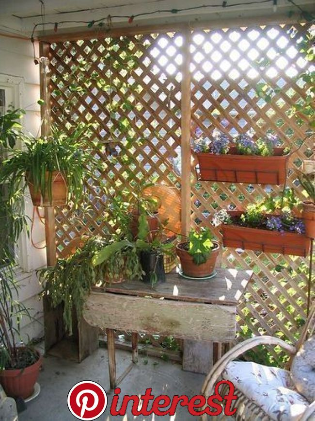 46 Balcony Garden Ideas For Decorate Your House Balconies Are Created For Families To Take Pleasure In The Lattice Garden Backyard Patio Designs Patio Plants