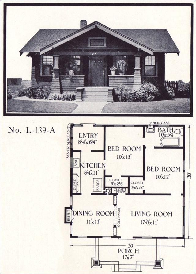 Californian Bungalow Floor Plan Plan No L State Bank Californian Bungalow Floor Plans California Bungalow Bungalow House Plans Craftsman Bungalow House Plans