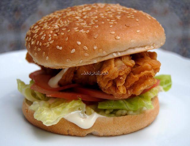 Hamburguesa de Pollo al Estilo Chicken Tender Crisp de Burguer King