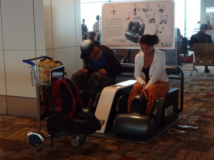 Free Massage at Changi Airport in Singapore