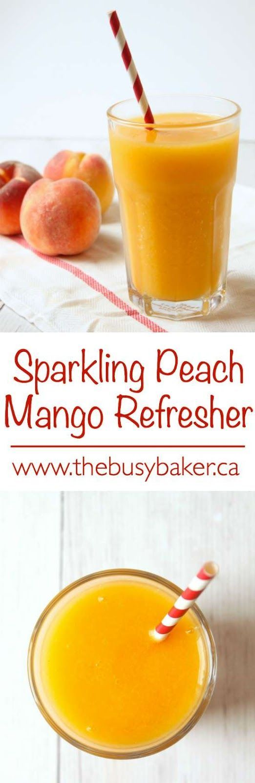 The Busy Baker: Sparkling Peach Mango Refresher