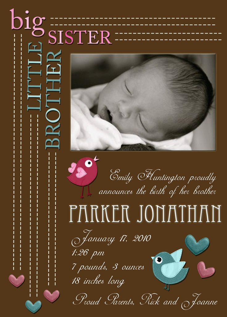 A baby announcement photo card I made and changed, but did not totally design. $6