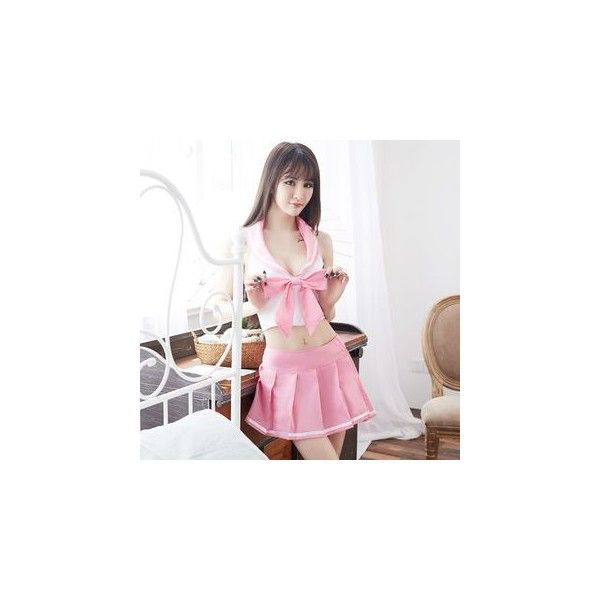 Sailor Collar Lingerie Costume ($22) ❤ liked on Polyvore featuring costumes, innerwear, women, white costumes, white sailor costume, white halloween costumes, sailor halloween costume and women's halloween costumes