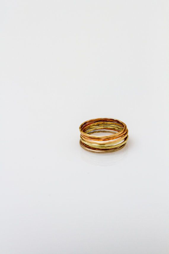 Willa Stacking Rings - We might love our Willa Stacking Rings a lot. So much in fact, we're giving you seven! Made from recycled gold, sterling silver, and rose gold with a subtle hammered finish, these delicate rings are amazing everyday pieces you can wear all together - or not.  The possibilities are endless.