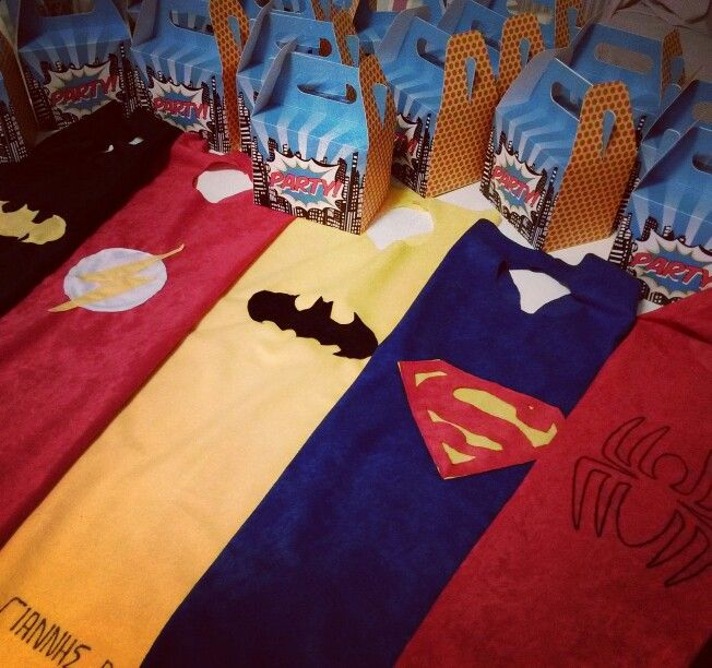 Superhero capes! Let's party!