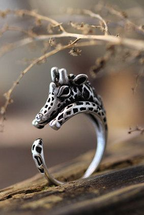 Giraffe Ring. I Dont like jewelry but i would wear this.