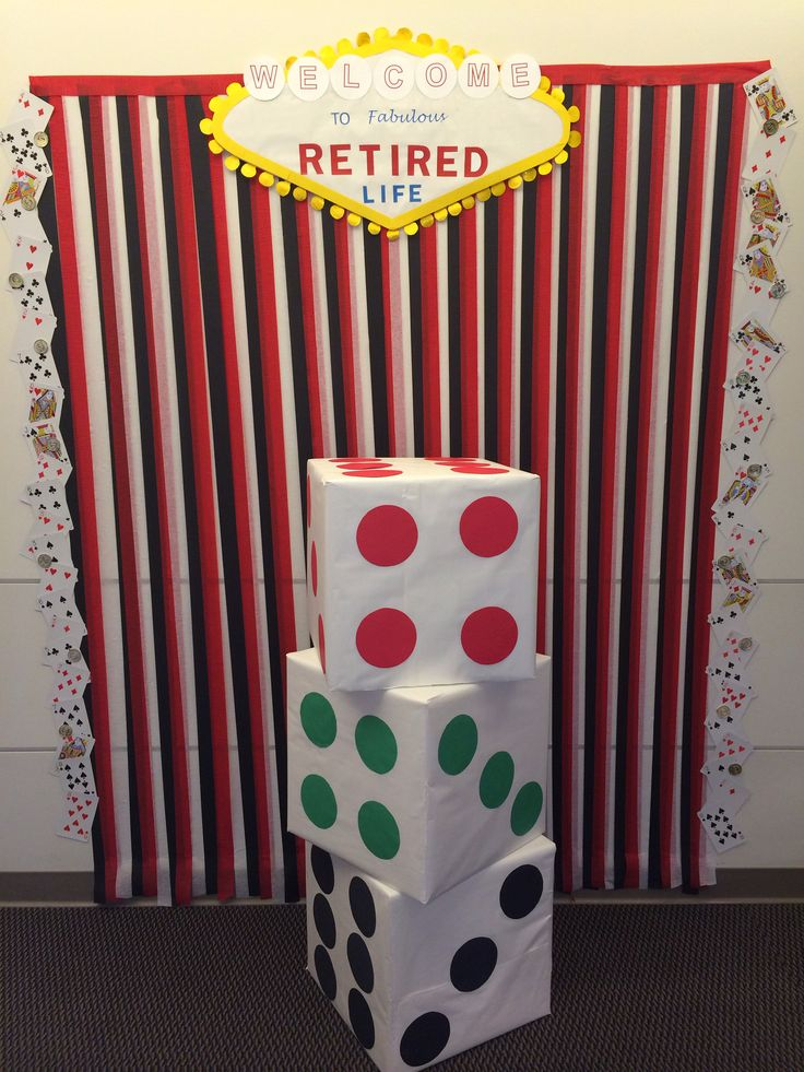 Casino theme retirement photo booth diy