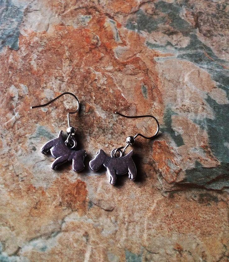 Dog Earrings, Dog Drop Earrings, Dog Dangle Earrings, I Love My Dog Earrings, Dog Gifts For Her, Miniature Dog Earrings, Fun Earrings,Gifts by SpryHandcrafted on Etsy