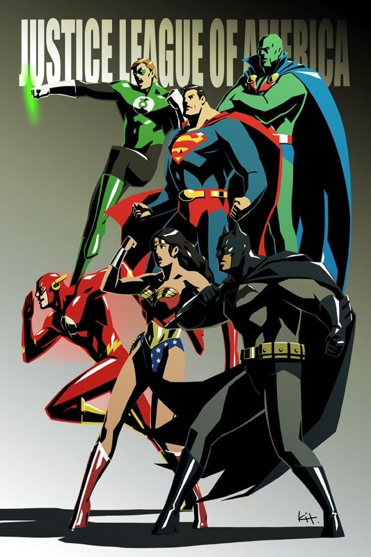 Kit Colors up the Justice League, Spider-Man, Supergirl and More [Art] - ComicsAlliance | Comic book culture, news, humor, commentary, and reviews