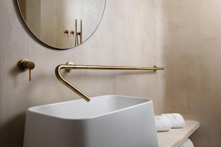 elongated brass faucet & tap