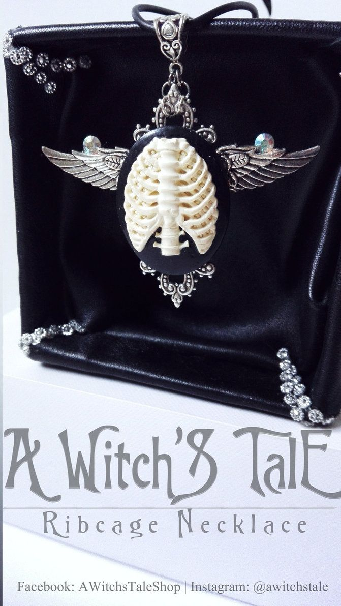 Ribcage Necklace by A Witch's Tale by LaceWingedSaby.deviantart.com on @DeviantArt