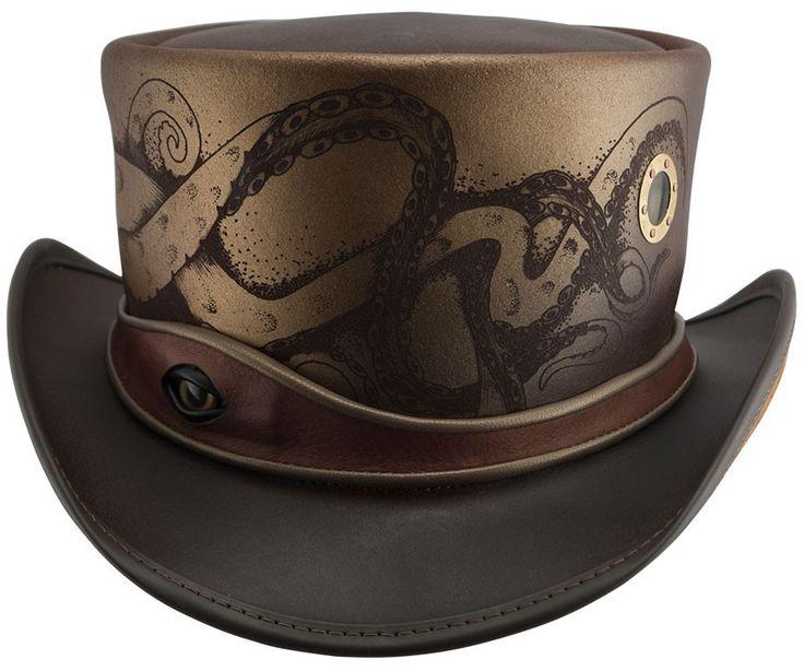 Kraken Steam Punk Top Hat by Head n Home - Chapel Hats