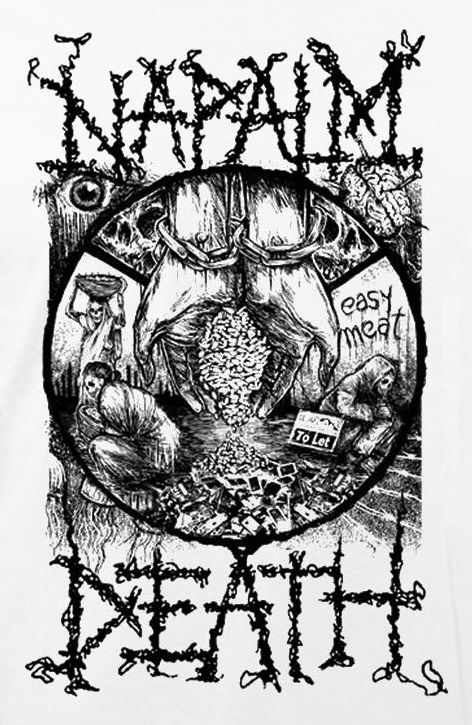Napalm Death - Easy Meat shirt design
