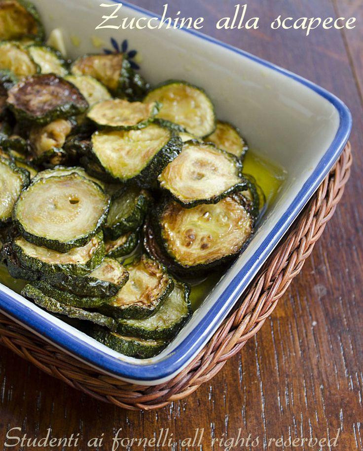 Zucchine alla scapece, ricetta contorno con zucchine