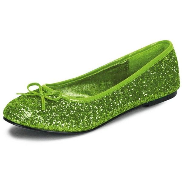 Womens Bright Lime Green Ballet Flats with Glitter and Bow Detail No... (£49) ❤ liked on Polyvore featuring shoes, flats, ballerina flat shoes, ballet shoes, wide ballet flats, bow ballet flats and bow flats