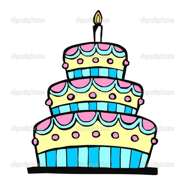 Фотообои Красочный Торт на день рождения