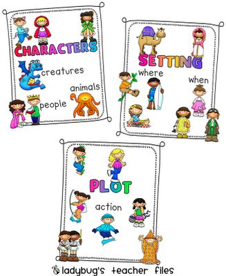 Ladybug's Teacher Files: Character, Setting, and Plot Posters and a great web link for teaching.