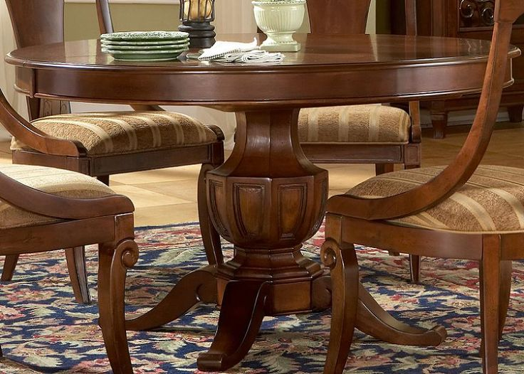 Fabulous Ideas For Round Dining Tables Setting Striking With Comfortable Material Of Chairs