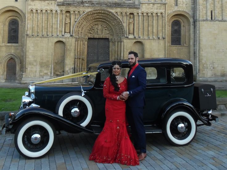 One of our happy couples from 2015 with our 1933 Rockne Studebaker