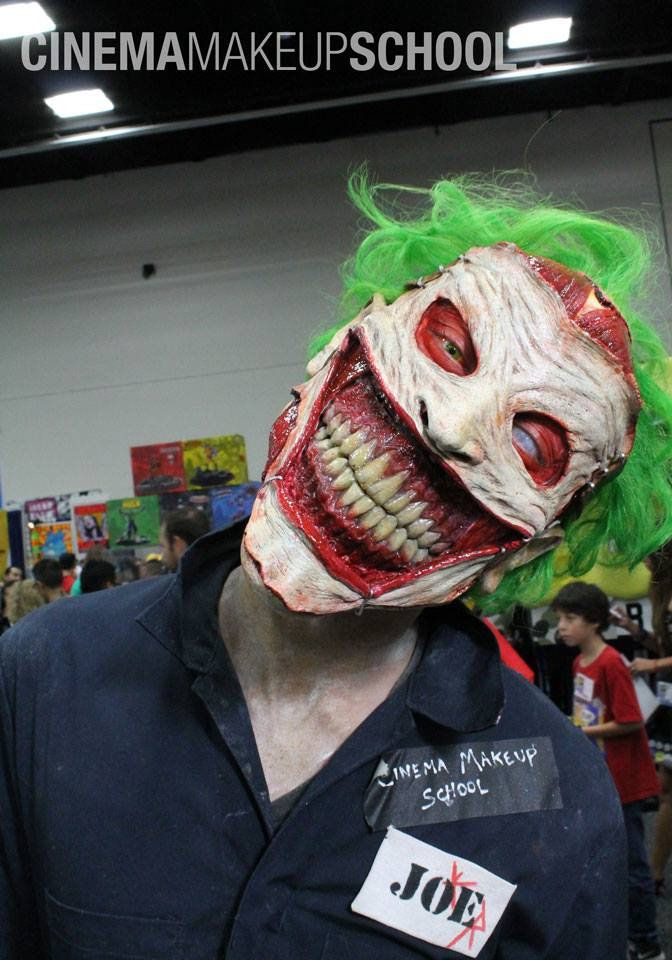 The New 52 Joker face prosthetic and makeup design by the Cinema Makeup School.