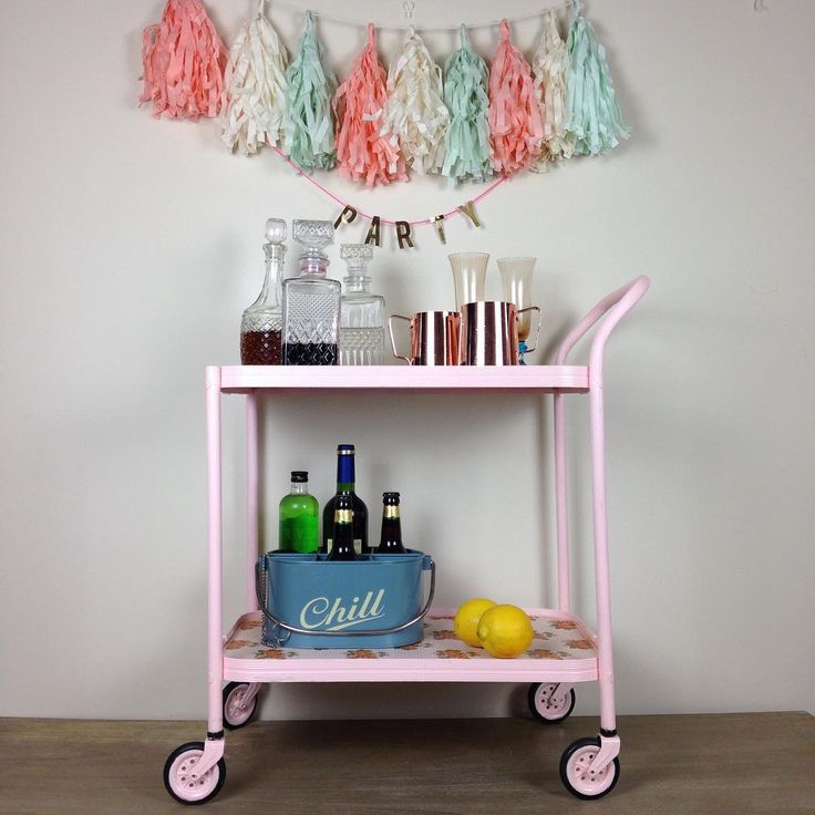Upcycled tea trolley , that can of course be used for a party!!! This little beauty could be future famous as it's going to be featured in @sharonhearnesmith new cookbook out this summer ! How exciting !!! #upcycledfurniture #handpaintedfurniture #kylelaneclonmel #upcycledteatrolley
