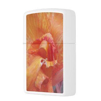 Floral Photography Orange Flower Nature Zippo Lighter