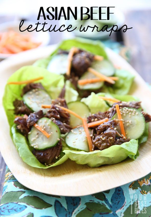 Asian Beef Lettuce Wraps Recipe, Healthy And Delicious Pin  from Our Best Bites